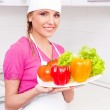 Cook with vegetables — Stock Photo #8965090