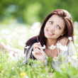 Woman outdoors — Stock Photo