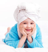 Child after the shower — Stock Photo
