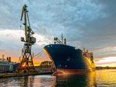 грузовое судно — Стоковое фото