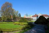 Beautiful park in Oliwa — Stock Photo