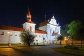 Church and monastery in Krasnobrod — Stock Photo