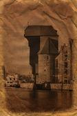 Old port crane — Stock Photo