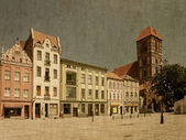 Torun in retro style, Poland. — Stock Photo