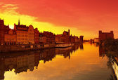 Sunset in Gdansk — Stock Photo
