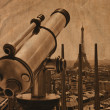 Telescope with Eiffel Tower — Stock Photo