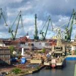 Gdansk Shipyard in a panorama — Stock Photo #9043547