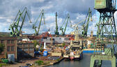 Gdansk Shipyard in a panorama — Stock Photo