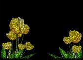 Mosaic tulips — Stock Photo
