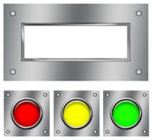 The steel panel and buttons — Stock Photo