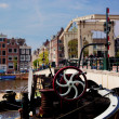 The Magere Brug, Skinny Bridge. Amsterdam - Stock Photo