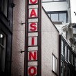 Casino sing on the building - Stockfoto