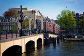 The Magere Brug, Skinny Bridge. Amsterdam — Stock Photo