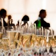 Stock Photo: Champagne glasses at the party