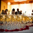 Champagne glasses at the party — Stock Photo #7987172