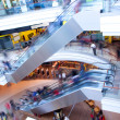 In rush in shopping mall, centre — Foto Stock