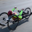 Wheelchair marathon compatition — Stock Photo
