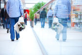 In rush in shopping mall — Stock Photo