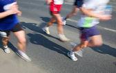 Running fast, marathon — Stock Photo