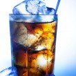 A fresh glass of cola with ice — Stock Photo #8958150