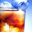 A fresh glass of cola with ice — Stock Photo