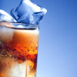 A fresh glass of cola with ice — Stock Photo #8958153