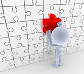 Puzzle, jigsaw matching. Solution, idea concepts. — Stock Photo