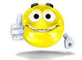 Smiley face showing ok sign — Stock Photo