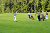 Group of Golfers at Country Club — Stockfoto