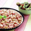 Rhubarb tart — Stock Photo