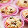 Muffins with green olives — Stock Photo