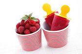 Raspberry ice creams — Stock Photo