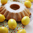 Lemon pound cake — Stock Photo