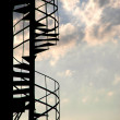 Royalty-Free Stock Photo: Stairway against the blue sky