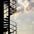 Stairway against the blue sky — Stock Photo