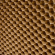 Close up texture of cooling pad. Honeycombs paper — Foto de Stock