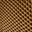 Close up texture of cooling pad. Honeycombs paper — Stock Photo