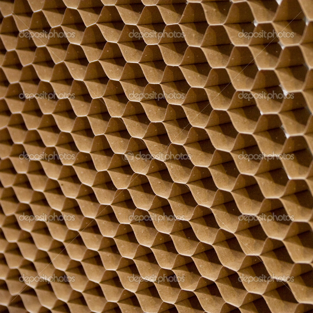 Close up texture of cooling pad. Honeycombs paper  Stock Photo #9829109