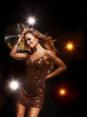 Discoteca chica — Foto de Stock