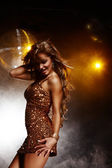 девушка дискотека — Стоковое фото