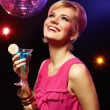Pretty girl with a drink - Stock Photo