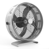 Moderne elektrische metalen ventilator geïsoleerd op witte achtergrond — Stockfoto