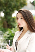 Beautiful young Business woman — Stock Photo