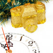 Royalty-Free Stock Photo: Decoration with a clock and gold camera