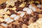 Sortiment cookies a close up. — Stockfoto