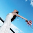 Bride with a wedding bouquet — Stock Photo