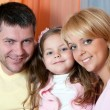 Portrait happy family indoor house — Stockfoto