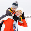 Mother and son enjoying beautiful winter day — Stock Photo #9505796