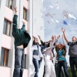 Group of students to complete academic year — Stock Photo #9523034