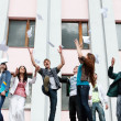 Royalty-Free Stock Photo: Group of students to complete academic year